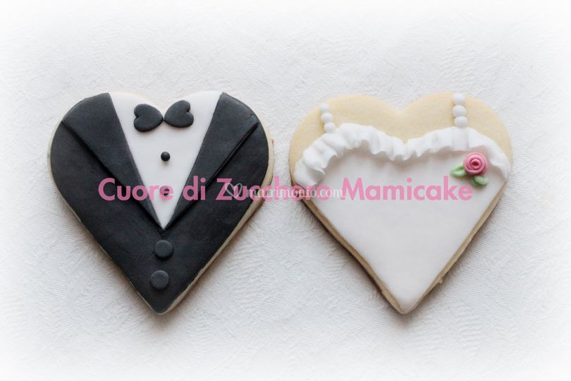 Biscotti decorati sposi