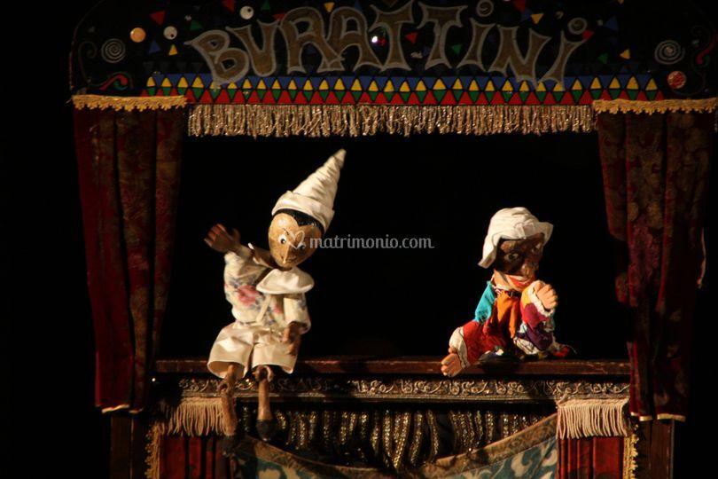 Arlecchino e Pinocchio