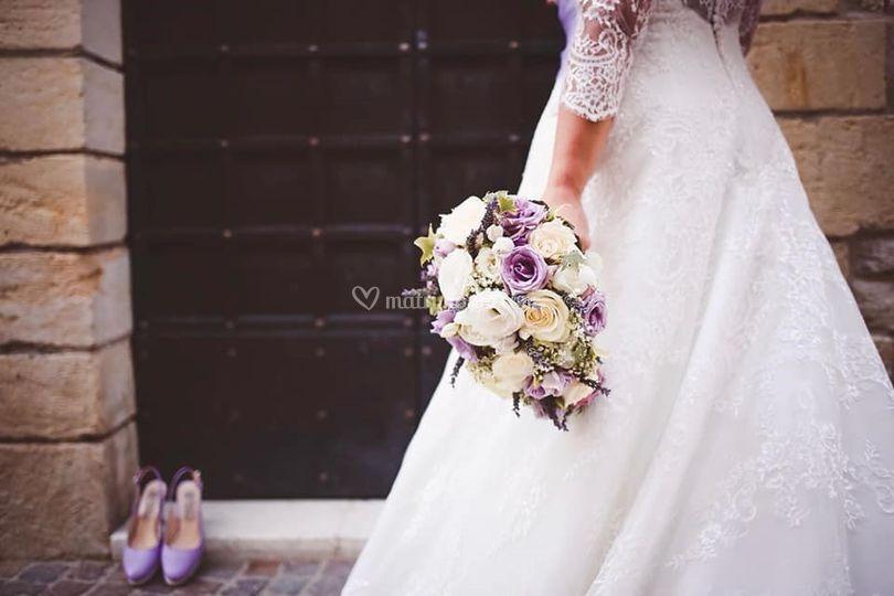 Sandalo chanel lilla