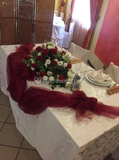 Testata sposi all'interno