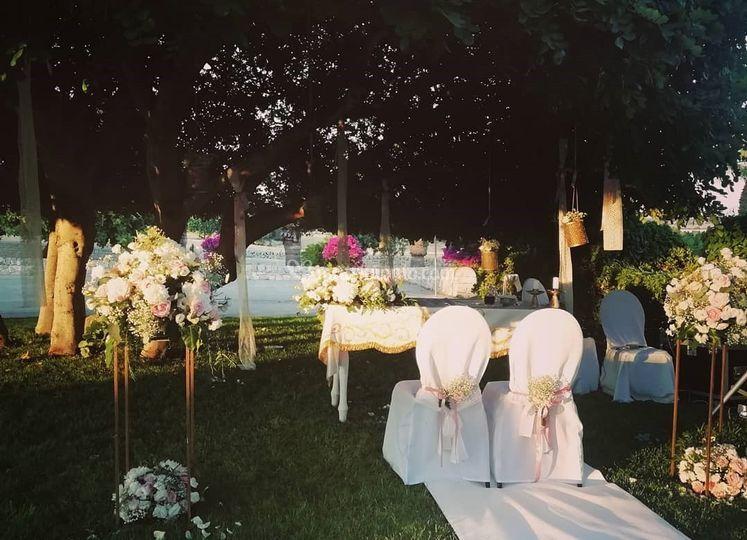 Wedding in giardino