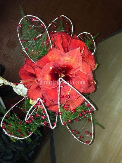 Bouquet con foglie costruite