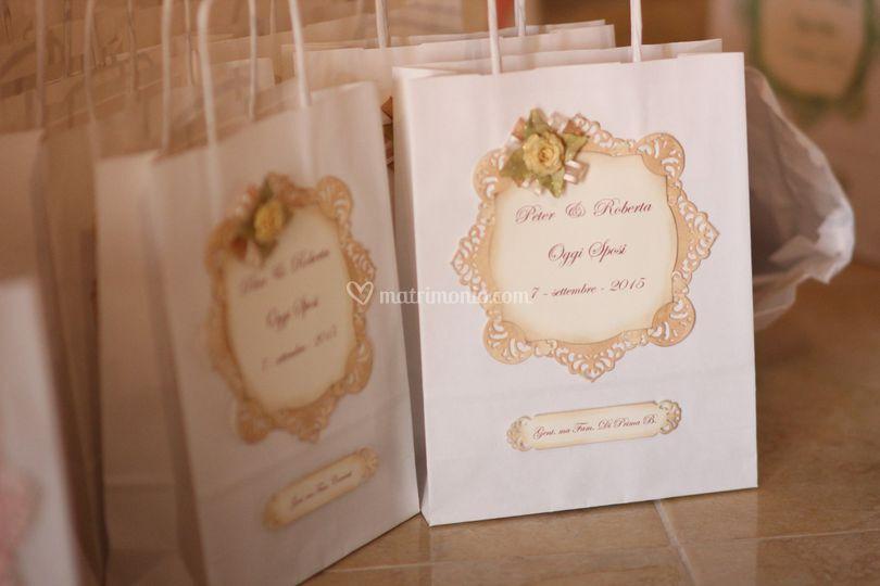 Wedding bag fatta a mano