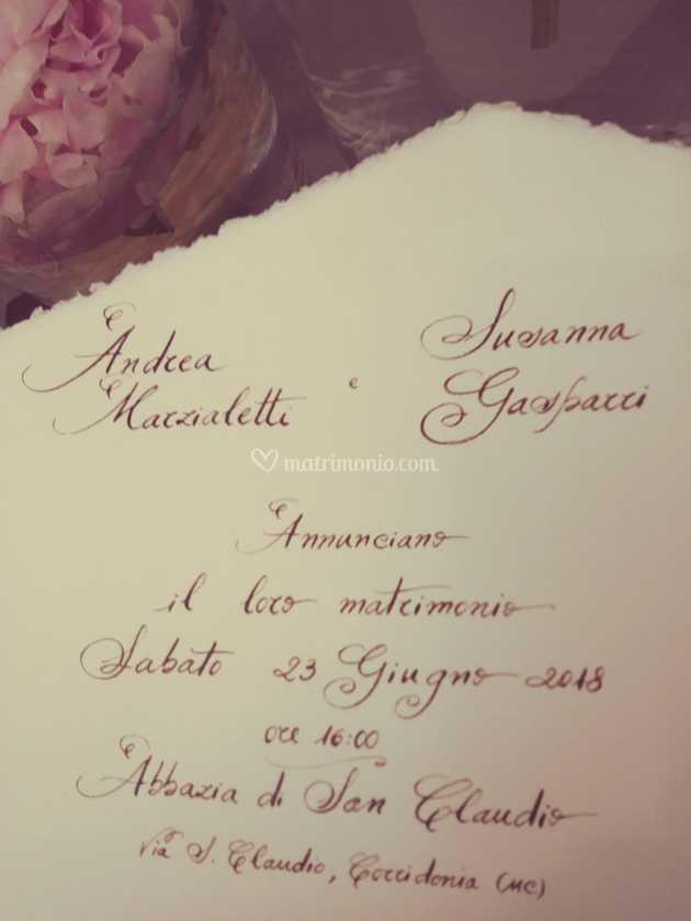 Scritta Partecipazioni Matrimonio.Partecipazioni Scritte A Mano Di Cinzia Pierantozzi Foto 10