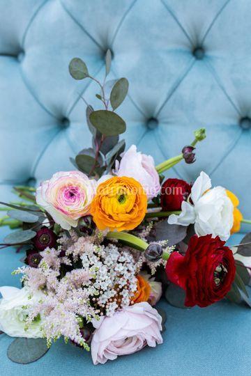 Bouquet da sposa colorato