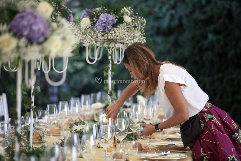 Allestimento tavola di Spazio Bianco