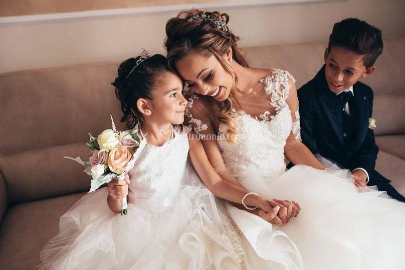 Sposa e damigelli
