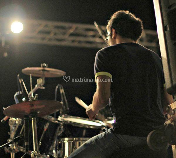Stefano alle percussioni