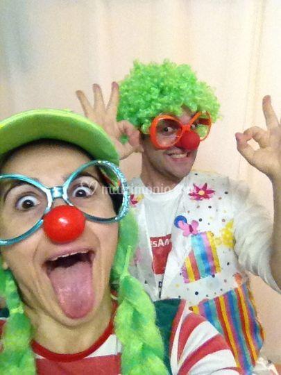 I clown pazzerelli per i bimbi
