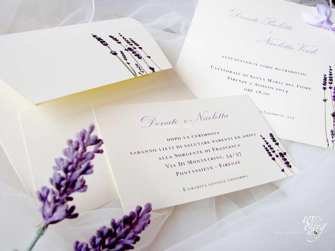 Partecipazioni Matrimonio Lavanda.Partecipazione Lavanda Di Tipografia Falisca Foto 12