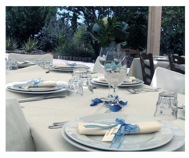 Allestimento tavola, menu, tableu