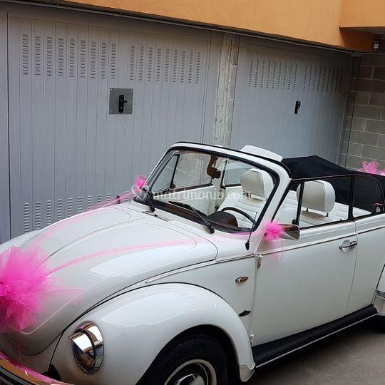 Maggiolone con fiocco rosa
