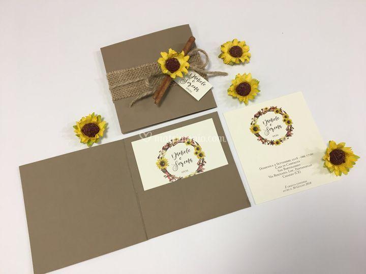 Partecipazioni Matrimonio Con Girasoli : Invito spezie e girasole di inviti a nozze foto 15