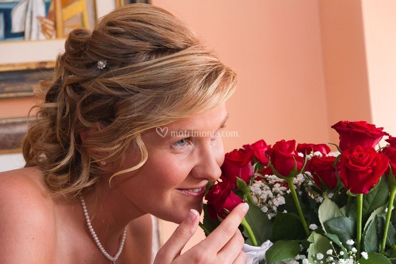 Sposa e rose