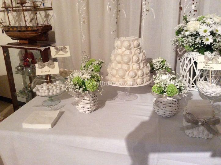 Confettata casa sposa di confetti amore e fantasia foto 38 - Tavolo matrimonio casa sposa ...