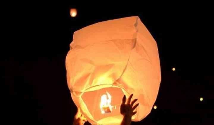 Lancio lanterne dei desideri