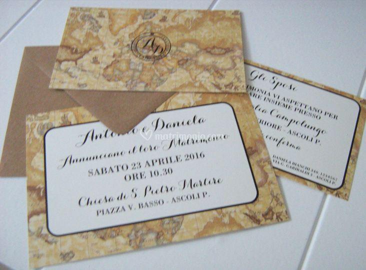 Partecipazioni Matrimonio Azzurro Polvere : T invito a nozze