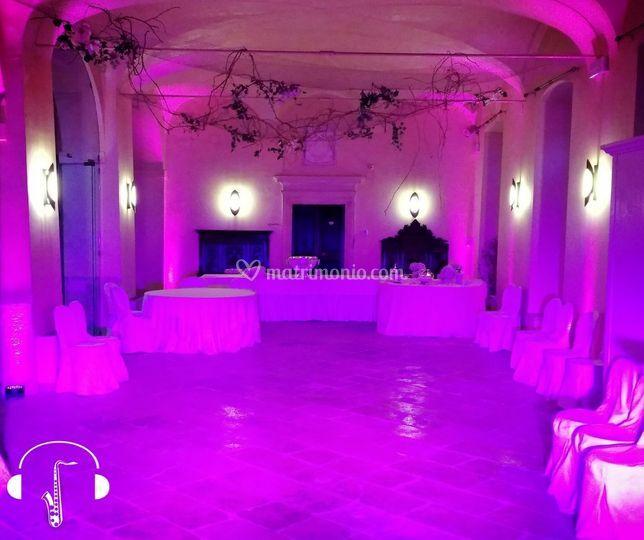 Illuminazione sala ballo