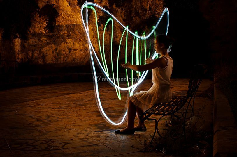 Light painting al Terrapieno