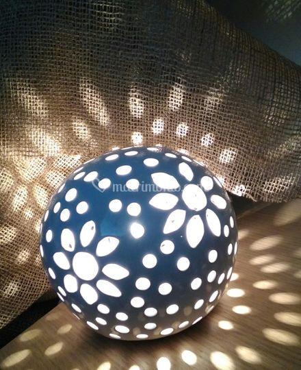 Lampada ceramica traforata