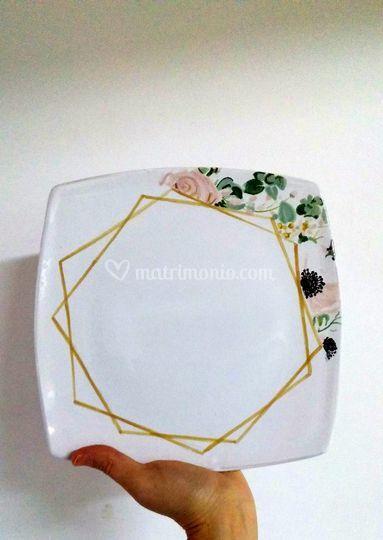 Piatto dolce in ceramica