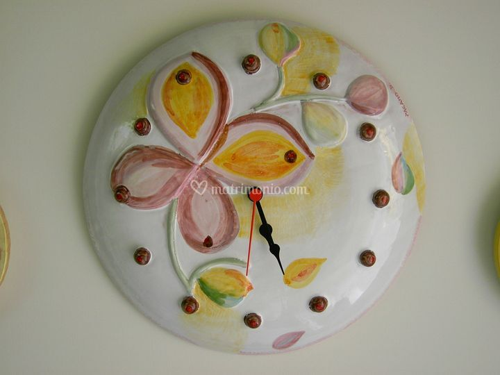 Orologio ceramica da parete