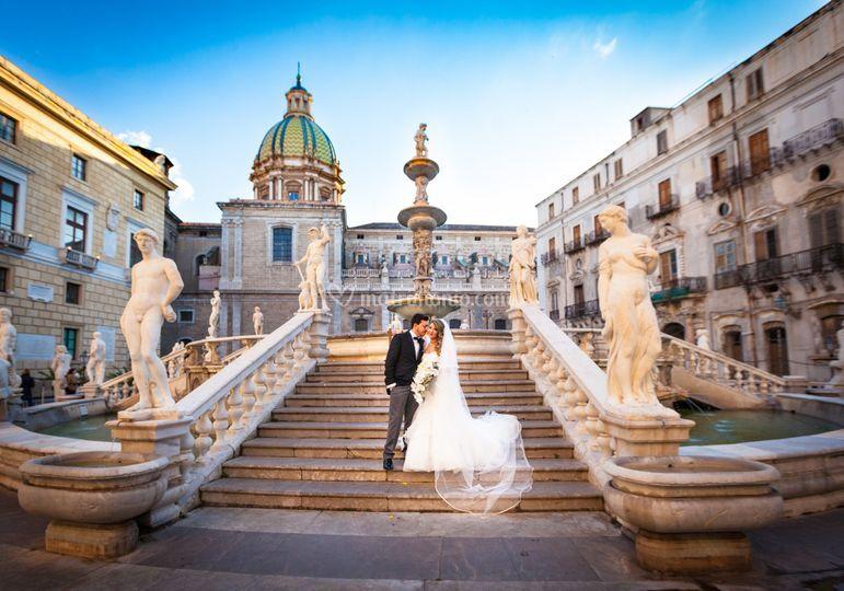 Palermo-nozze-Piazza Pretoria