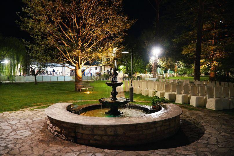 Fontana illuminata