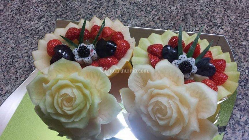 Piatto frutta sposi