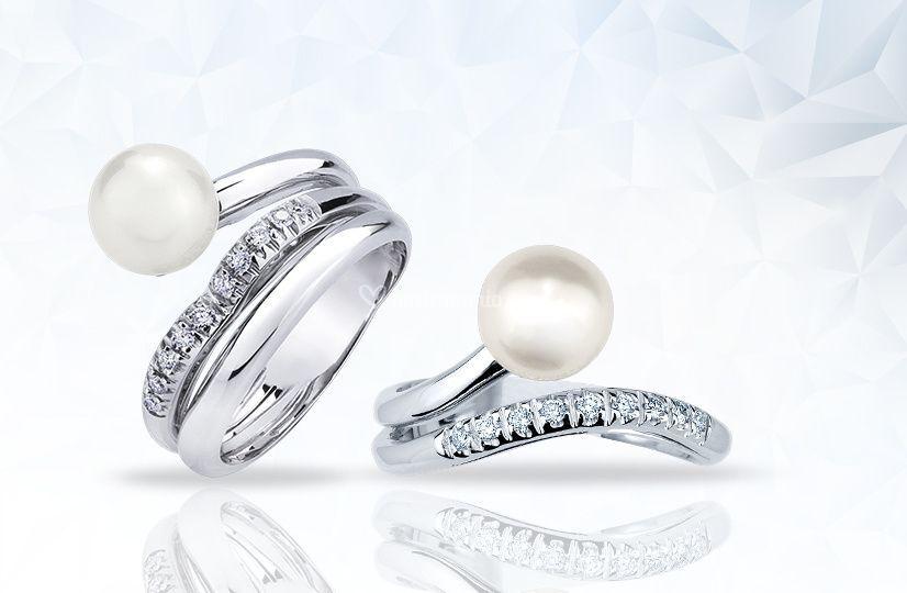 Perle e diamanti
