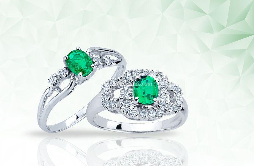 Gioielli con smeraldi