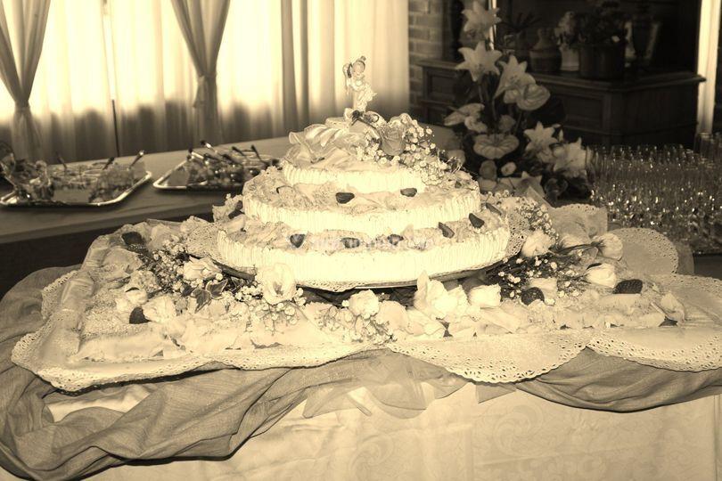 Una torta nuziale