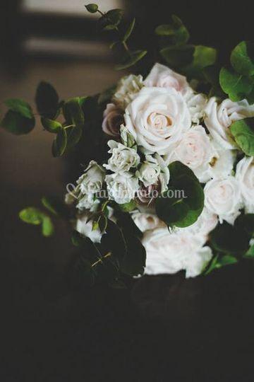 Bouquet rose eucalipto