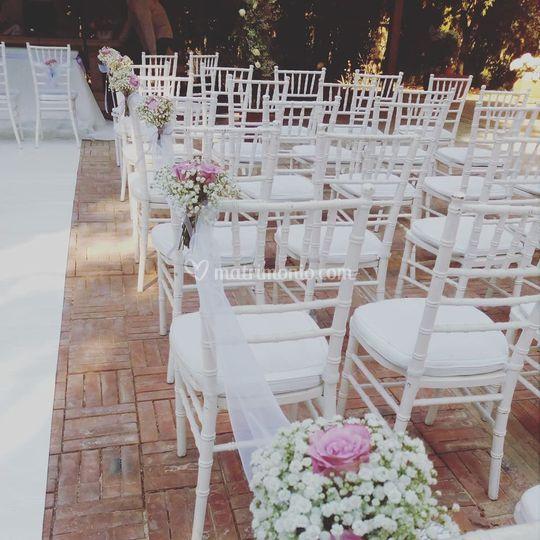 Decorazione sedute di Mediterranea Wedding & Flowers