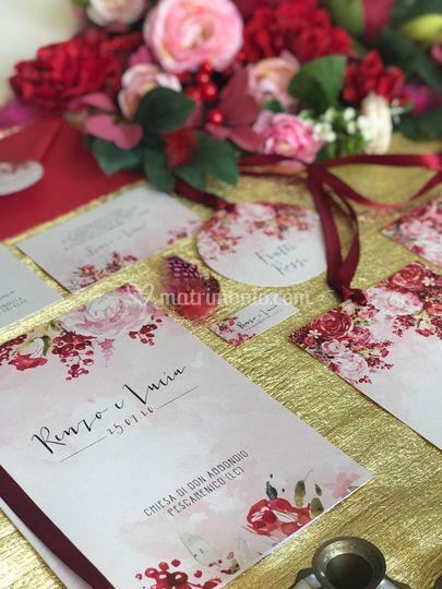 Wedding red,pink&gold 1
