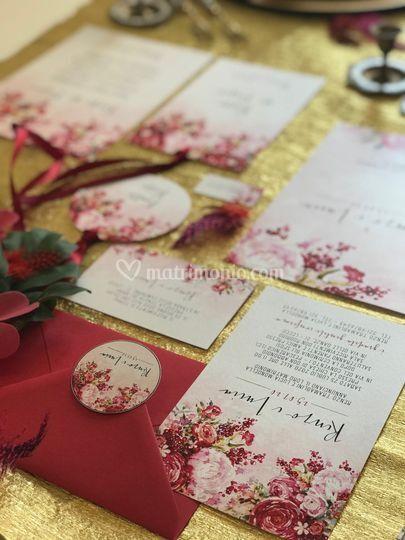 Wedding red,pink&gold 2
