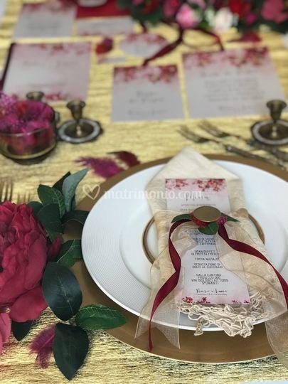 Wedding red,pink&gold 3