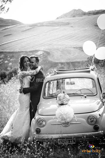 Selenia e Eros,magnifici sposi