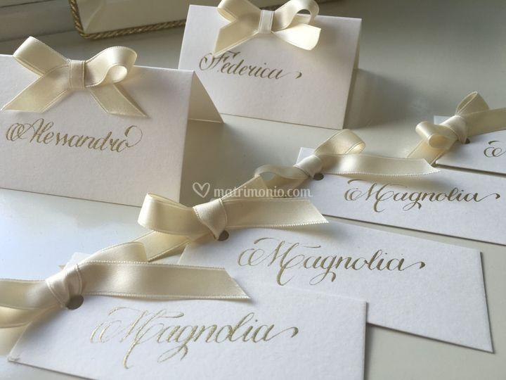 Segnaposto e wedding cards