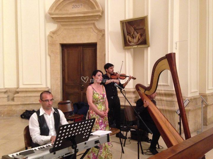 Wedding live music con Arpa
