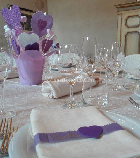 Allestimento tavola comunione