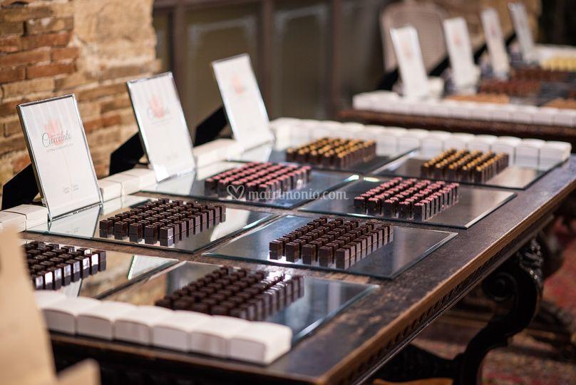 Buffet di cioccolati Armani