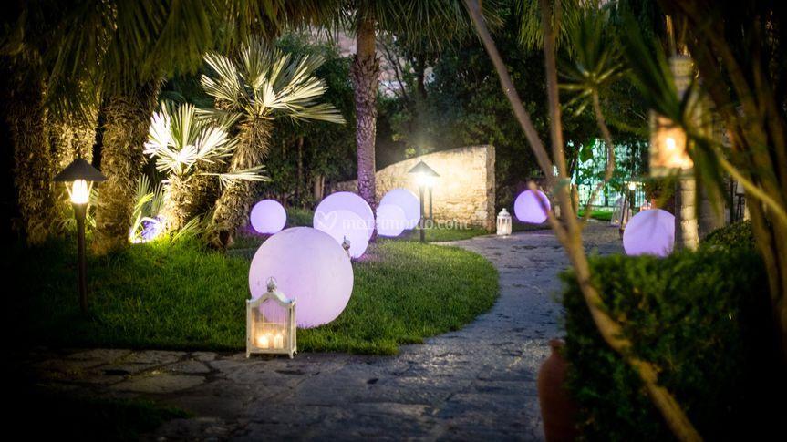 Parco Chiaramontano viale luci