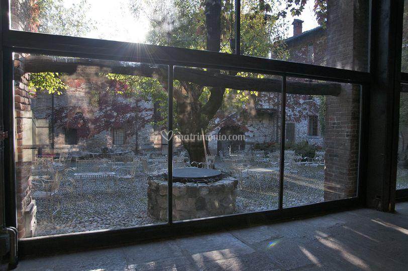 Corte vista dalla Veranda