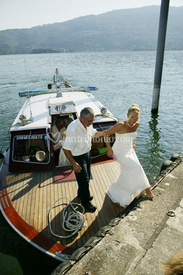 Sposa in barca