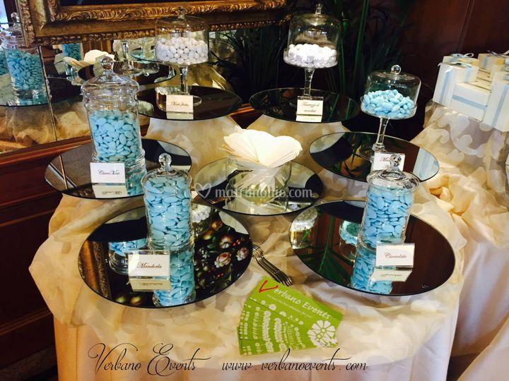 Allestimento tavolo battesimo
