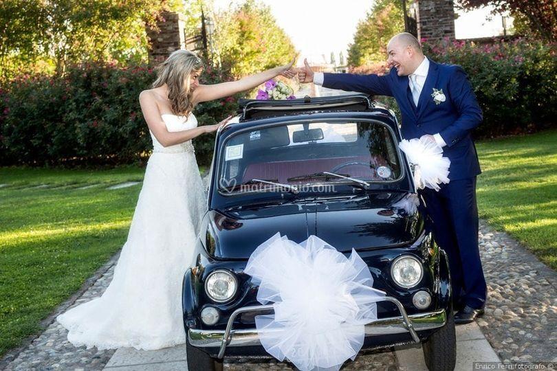 Fiat 500 per chiara & daniele