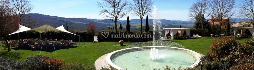 Fontana e area aperitivo
