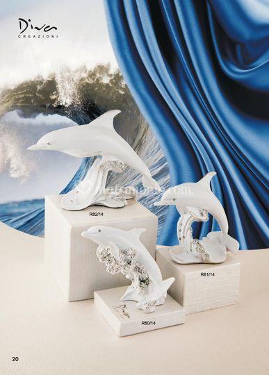 Delfini in resina