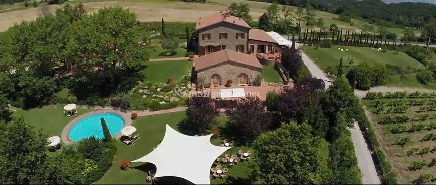 Vista aerea giardino